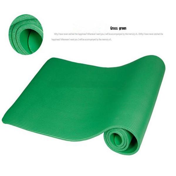 6 farben fitness ausrüstungen nbr dicke yoga matte rutschfeste yoga matte gesundheit verlieren gewicht übung pad yoga matte fitness pad yp001