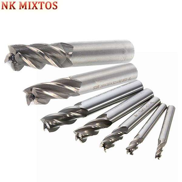 NK MIXTOS Straight Shank 2 Flute Ball Nose End Milling Cutter Flute 6mm x 6mm