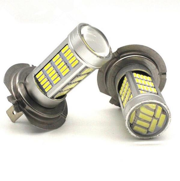 2 PCS H7 4014 92 SMD LED luzes de nevoeiro LED lâmpadas DRL luz de circulação diurna branco brilhante do que 33 luz SMD