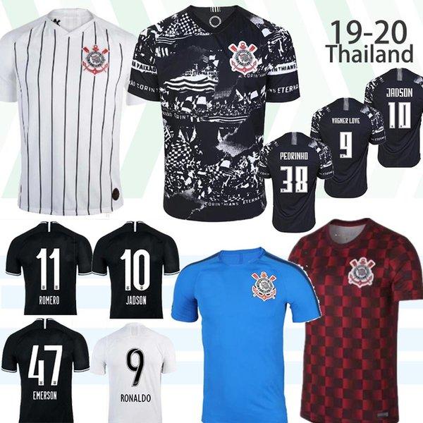 2019 qualité Corinthian Jersey Thai pauliste Football Brasil 19 20 CLAYTON Jadson ROMERO PABLO M.Gabriel Football Maillots Shirt Femme Brésil