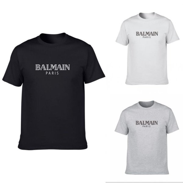 Balmain Mens Designer T Shirts Schwarz Weiß Grau Mens Fashion Designer T Shirts Top Kurzarm Kurzarm S-XXL
