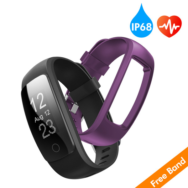 0.96 INCH OLED Fitness Tracker with Heart Rate Monitor, Activity Tracker Smart Watch with sleep Monitor, IP67 Water Resistant