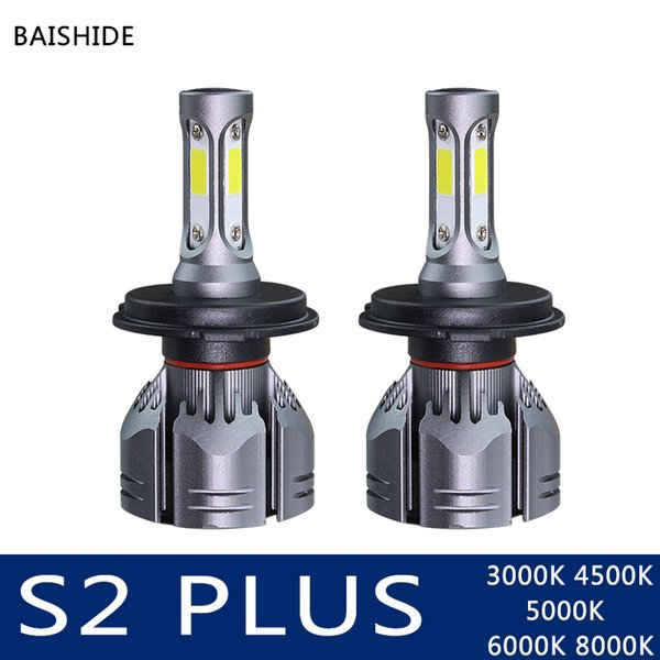 BAISHIDE H4 LED H7 H11 HB4 9006 H1 H3 HB3 9005 Auto S2 plus de voitures phares Ampoules 60W 9000LM Car Styling 6500K 4300K 8000K 5000K