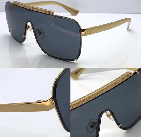 eac8610d4db new men vintage designer sunglasses retro design big face logo square frame  rimless UV400 lens top quality steampunk style with box