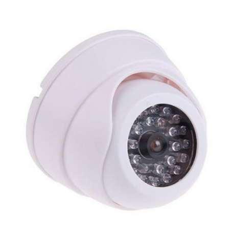 CCTV Fake IP Camera Dummy Surveillance Security Dome Mini Camera 30 Flashing LED Light Fake Camera Security Indoor Outdoor White