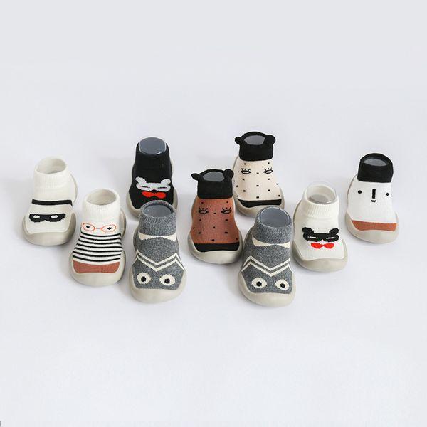 Cartoon Animal Infant Baby Shoes Calzini per bambini Calzini per bambini Newborn Baby Rubber Bottom Calzini antiscivolo per bambini