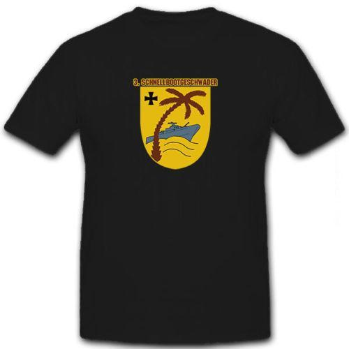 3 Schnellbootgeschwader Bundesmarine Wappen Bundeswehr Marine - T Shirt # 12749 Herren Modemarke 2018 T-Shirt Oansatz 100% Baumwolle