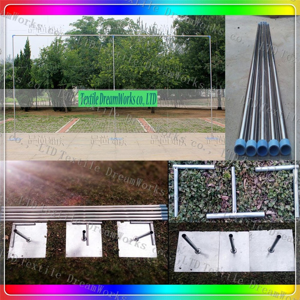 3X6M Stainless Steel Pipe Wedding Backdrop Stand With Expandable Rods Backdrop Frames For Wedding Event&Party Decoration