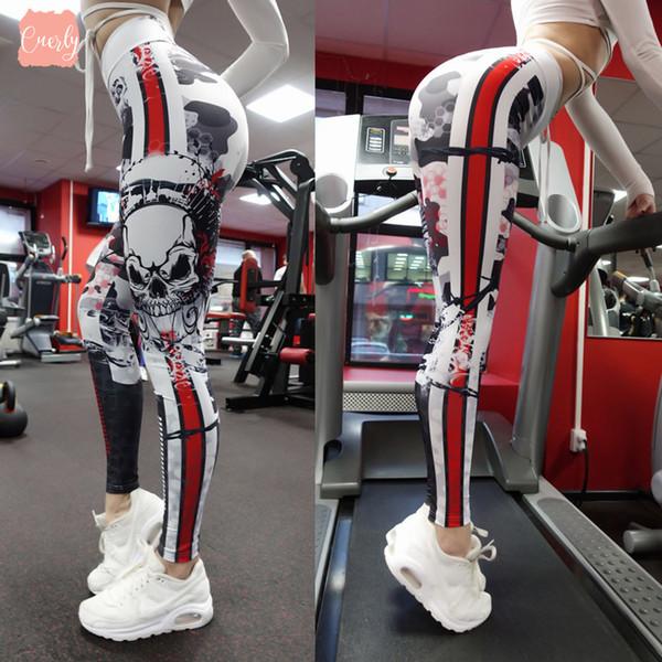 Legging Skull 3D Imprimer Spandex Fitness leggings femmes sexy taille haute loisirs Pantalon d'entraînement à sec sport gothique entraînement rapide Leggins