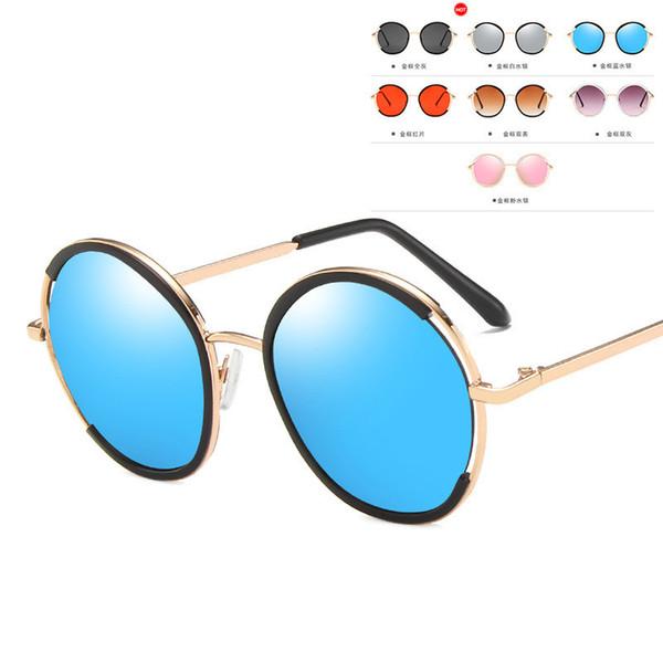 Retro Kids Sunglasses 2020 Girls Round Goggle Candy Color Lens Sun Glasses New Round Sunglasses for Boys Girls Child UV400