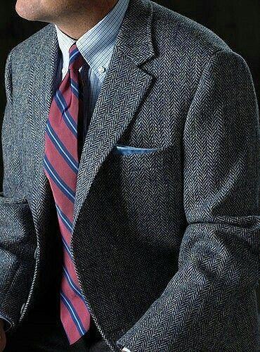 2019 Dark Grey tweed blazer men Wool Herringbone British style custom made Mens suit slim fit Blazer wedding suits for men