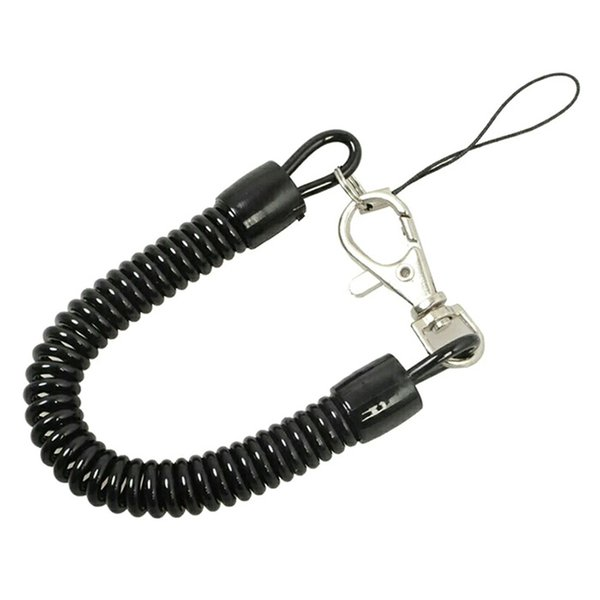 Plastic spring rope key chain mobile phone chain retractable telephone cord keychain