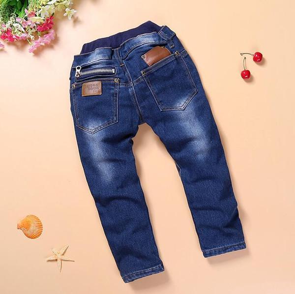 IENENS Primavera Crianças Bebê Meninos Magro Reta Jeans Moda Criança Buraco Quebrado Calças Crianças Jovens Menino Denim Calças Roupas