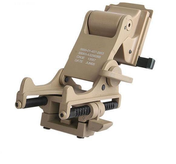 Adattatore tattico per casco SEIGNEER per attacco notturno PVS-14 sul casco per la caccia al Black / Sand