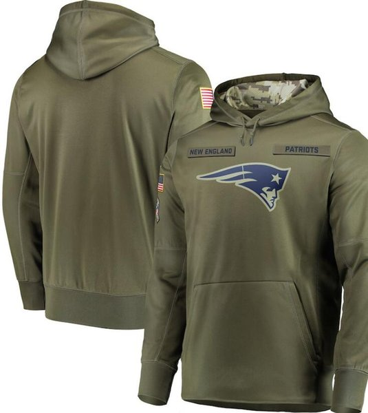 top popular men New England New Orleans Chicago Oakland DAL Sweatshirt Hoody Camo Salute to Service Sideline Therma Performance Pullover Hoodie Olive 2020