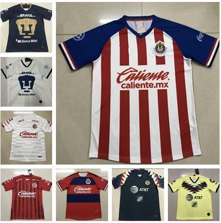 TOP Quality 2019 2020 LIGA MX Club America CHIVAS Guadalajara UNAM TIGRES soccer Jerseys 19 20 football kit shirts camisetas de futbol