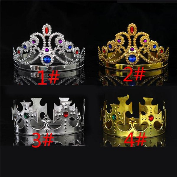 Party Cosplay Crown King Queen Princess royal diamond gem crown children adults crown headwear halloween christmas Hair Accessories TO740