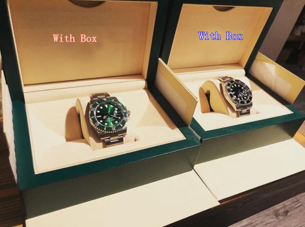 Com caixa de luxo Perpetual Data Sub 40 mm 116610 Mens Aço Inoxidável Preto Cerâmica Bezel Black Dial Mecânica (automático) Relógios Masculinos