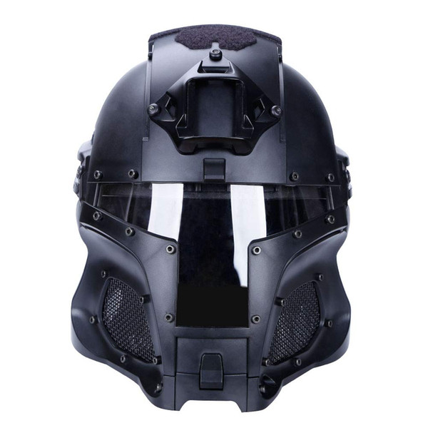 best selling Helmet Tactical Airsoft Paintball PC Lens Tactical Helmet Full-Covered Helmet Accessories CS War-Game Shooting