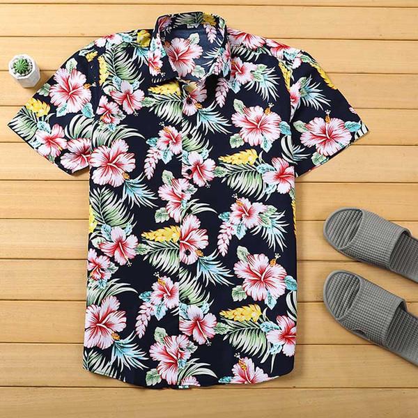 precio atractivo apariencia elegante nuevo estilo Compre Camisa Hawaiana Para Hombre De Playa Camisa De Manga Corta De Verano  Tropical Para Hombres Ropa De Marca Casual Camisas De Algodón Sueltas ...
