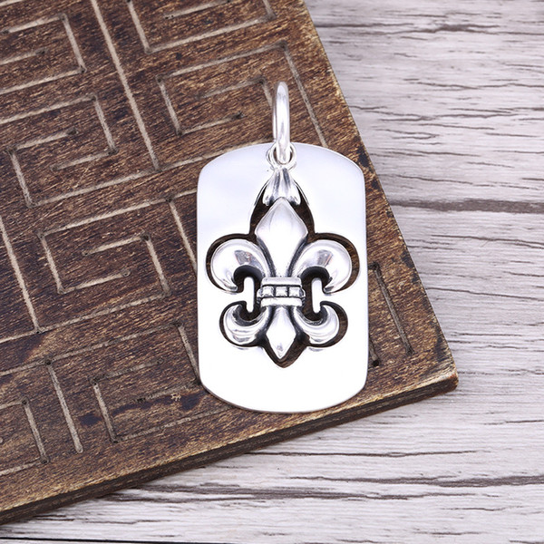best selling S925 sterling silver pendants personalized classic retro fashion series punk-style hip hop cross tag send lover gift
