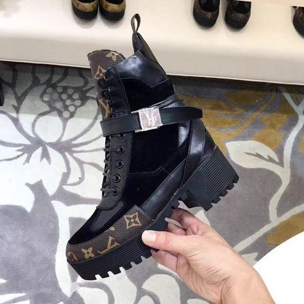 New Fashion Women Ankle Boots Chunky Heels Laureate Platform Desert Boot Bottes Femmes Casual Shoes Womens Fashion Botas de mujer Drop Ship