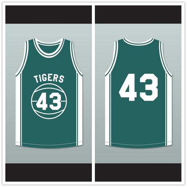 Eric Nies Montrose 43 tigres de la High School camiseta de baloncesto por encima del borde-1