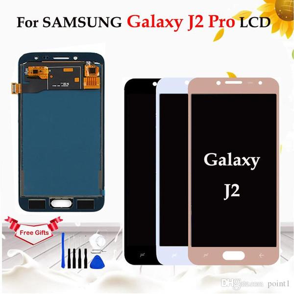 AMOLED / TFT LCD para samsung galaxy j2 pro 2018 j250j j250h j250h j250m / ds display lcd de tela de toque digitador assembléia
