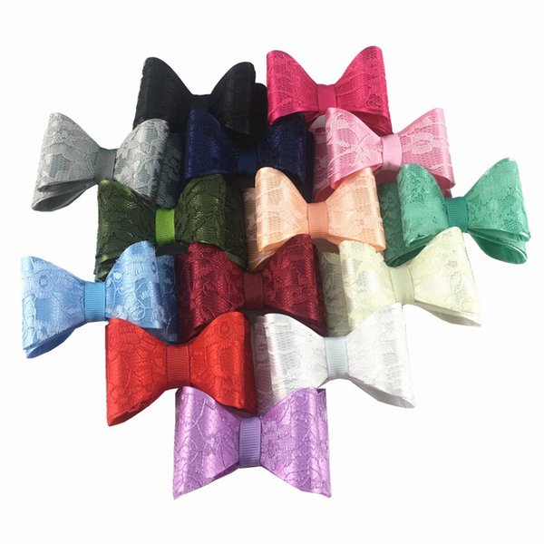 14 color 7 cm High quality PVC lace bow hair accessories clothing accessories Europe and America baby jewelry