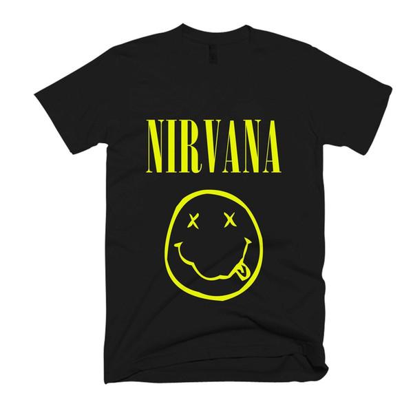 Nirvana-Logo-Männer / T-Shirt der Frauen geben Verschiffengroßverkauf grundlegende Modell-T-Stück Sommer heiße Verkaufs-Oansatz Art und Weise Druck frei