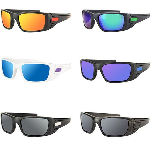 MOQ = 10шт Новая мода Красочные Популярные Ветер Велоспорт Зеркало Спорт на открытом воздухе очки очки солнцезащитные очки для мужчин женщин Дешевые Зазор солнцезащитные очки