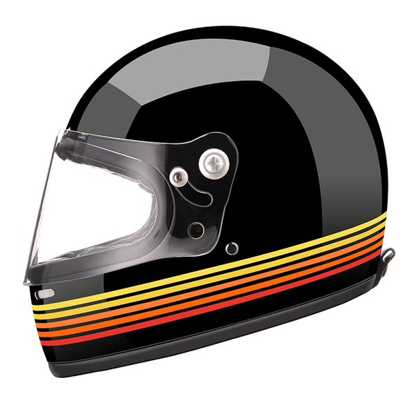 AMZ full face motorcycle helmet glass fiber reinforced shell scooter motorbike vintage helmets high quality retro moto helmets
