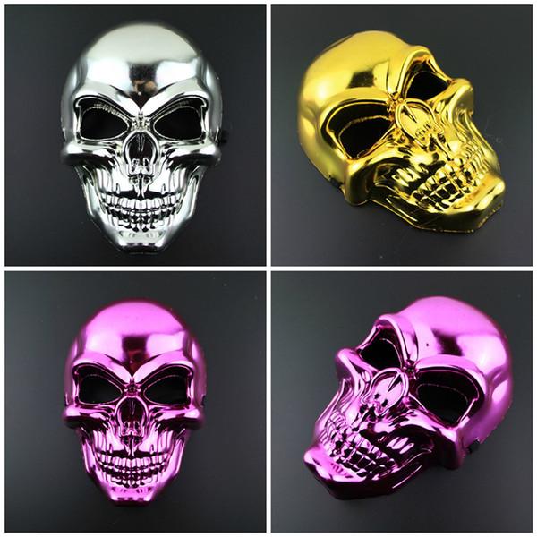 Nueva Seis colores de Halloween máscara del horror de Navidad electrochapa máscara divertida mascarilla regalo del partido de la decoración del partido T3I5596