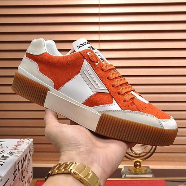 LussoDesigner Shoes nuovo modo classico da uomo nuovo arrivo Miami Sneakers in pelle di vitello Nappa e Spalato grano scarpe basse Top Lace-u