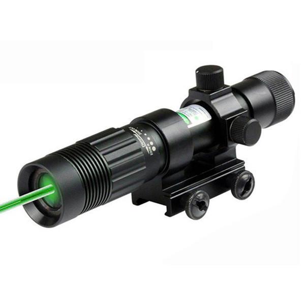 Viseur laser vert tactique 5mW Focus désignateur laser vert réglable Viseur laser chasse avec montage sur rail 20mm.
