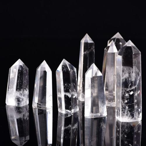 Free shipping 1kg Wholesale High quality 100% Natural Clear Quartz Crystal Point Gem Stone Wand Point reiki Healing