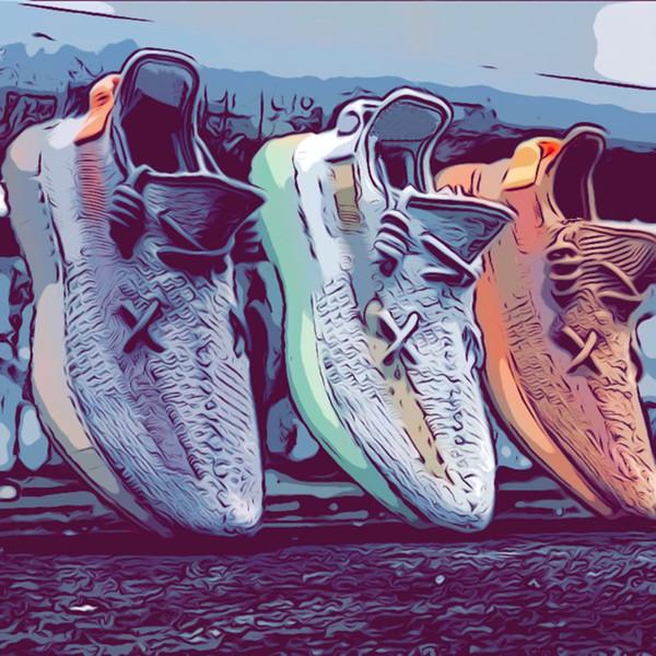 2019 V2 True Form Kanye West Noir Static Gid Glow Argile Crème Zèbre Blanc Beluga 2.0 Chaussures De Course Sesame Chaussures De Course