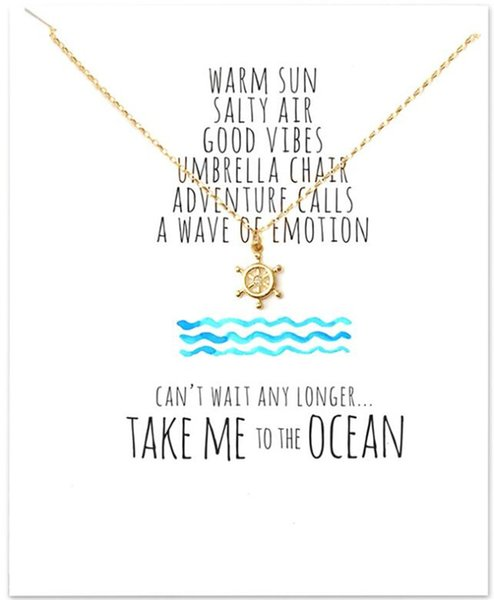 New Ocean Collection Rudder Pendant Chokers Necklace Fashion Clavicle Jewelry For Women Valentine \'S Day Gift Wholesale