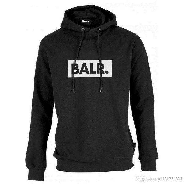 FASHION- 2019 Toison BALR Casual Sweats à capuche unisexe Vetement Hip Pop Pull Menswomen Sportwear Manteau Jogger Survêtement Mode