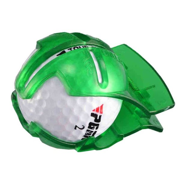 Erwachsene Golf Ritzen Kunststoff Zement Material Ball Marker Widerstand zu fallen tragbare grün-blaue Eröffnungsfeier Geschenk 3 pg C1