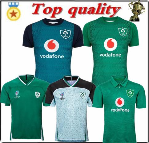 top popular Top quality 19 20 Irish Rugby jerseys Ireland World Cup home away Rugby jersey training suit POLO shirt S-3XL 2019