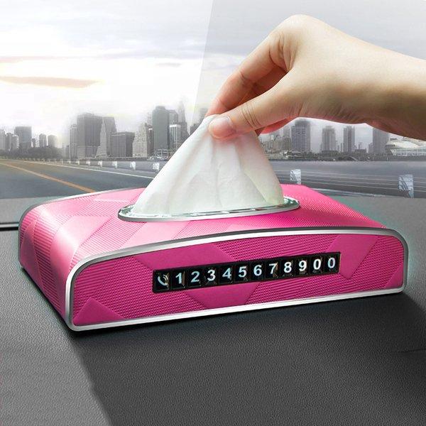New Universal Car Box Accoudoirs Tissue Box Creative Luminous temporaire Panneau Stop tissu intérieur de la voiture Produits Accessoires