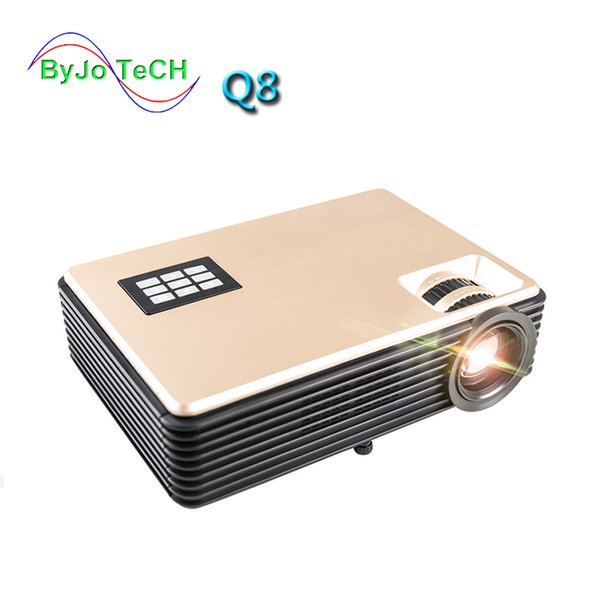 top popular ByJoTeCH Q8 NEW 5000 lumens Full 1080P 4K 2K Android Projector WIFI Bluetooth Home Theater Beamer Support USB HDMI Proyector 2019