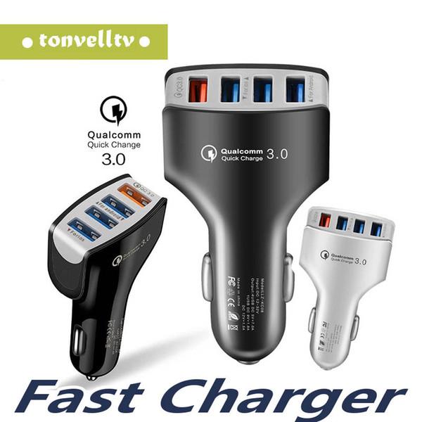 Top Qualtiy QC 3.0 4 USB 7A Adaptive carregamento rápido Início Travel Car Charger Conecte o cabo cabo USB para Samsung Galaxy S9 S10