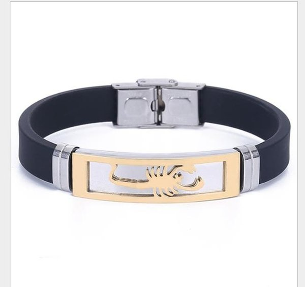 European and American Style Fashion Sports Stainless Steel Bracelet Individual Creative Scorpion Bracelet