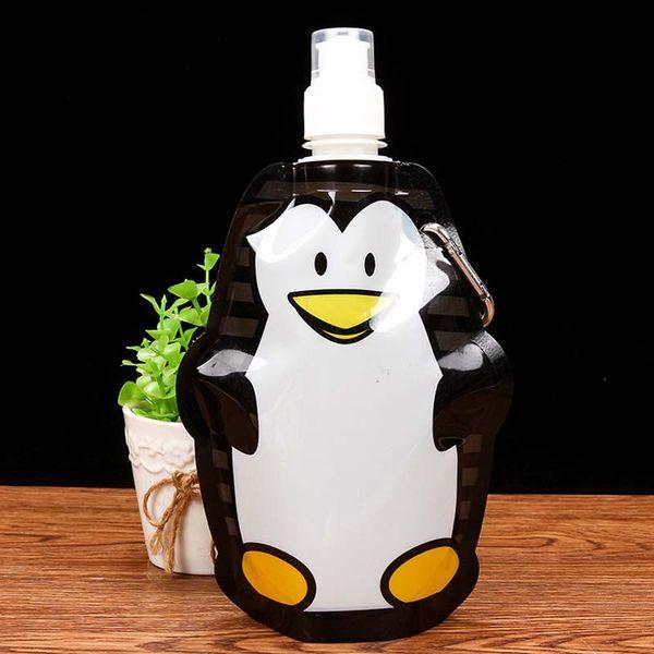 360ml Eco Friendly Foldable Cartoon Water Bag Travel Drink Bottle Safe for  Kids