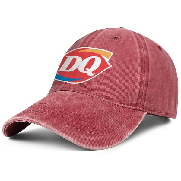 Womens Mens Flat-along Adjustable Dairy Queen DQ Punk Hip-Hop Cotton Snapback Hat Summer Hats Cadet Army Caps Airy Mesh Hats For Men Women