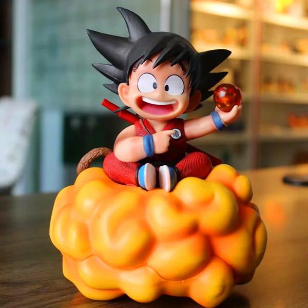 Anime Dragon Ball Z Son Goku Jovem com cambalhota nuvem Estátua Figura brinquedo modelo 18 cm