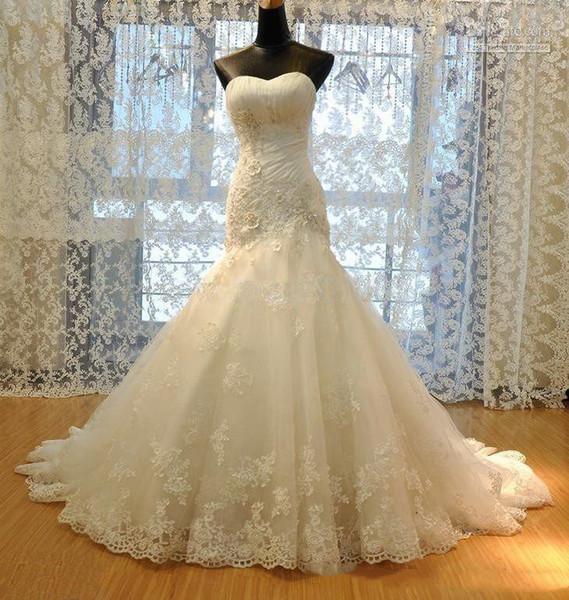 Vestido de Noiva Sereia Vestidos de casamento com Applique mangas Backless Mermaid Wedding Dress baratos Longo vestido nupcial