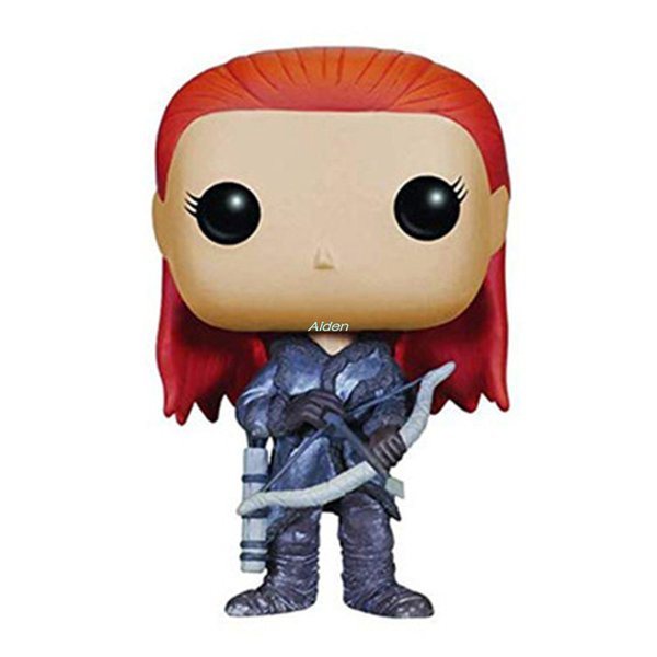 Q Version Creative POP Game of Thrones Ygritte Direwolf Birthday Gift Art Craft Exquisite PVC Action Collectible Model Toy 10CM BOX G510